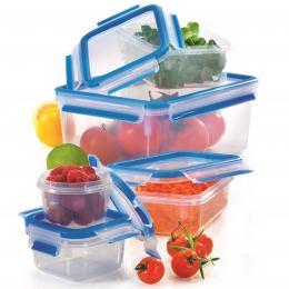 Lot de 5 boîtes alimentaires 'clip & close' 3D