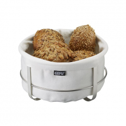 Corbeille à pain ronde Brunch blanche