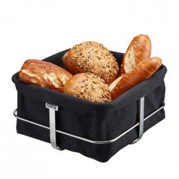 Corbeille à pain carrée Brunch noire